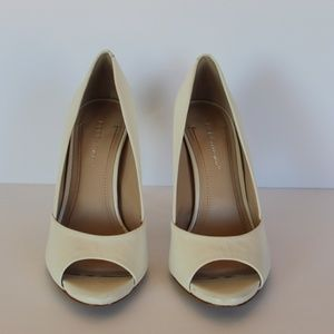 BCBGeneration White Open Toe High Heel - Size 7.5